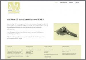 ontwerp website advocatenkantoor faes