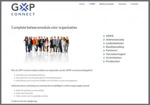 ontwerp webstek gxp-connect