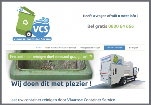 ontwerp website vlaamse container service